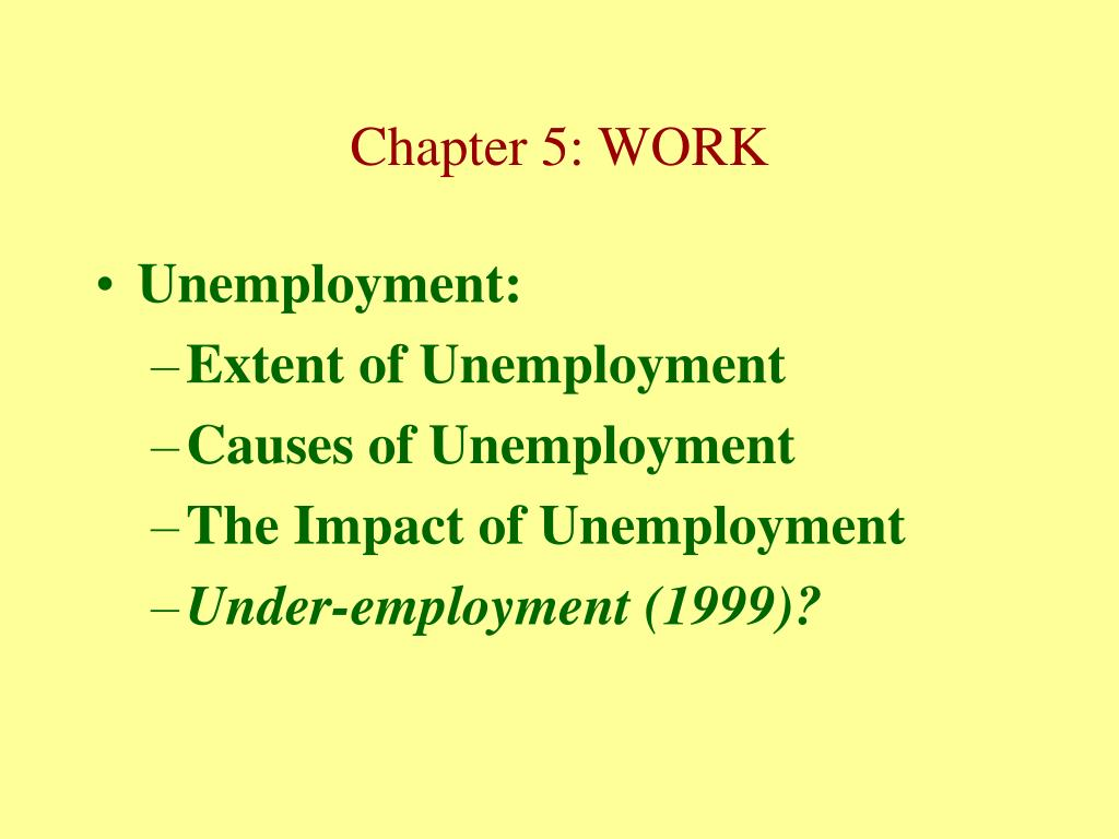 Unemployment: