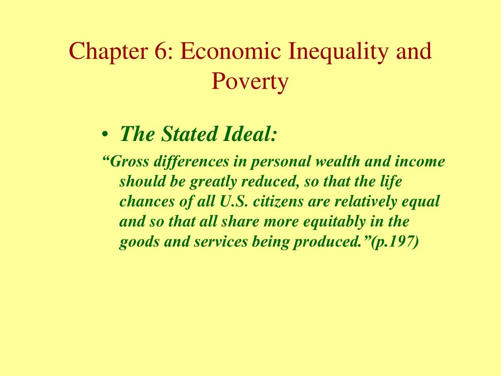 The Stated Ideal: