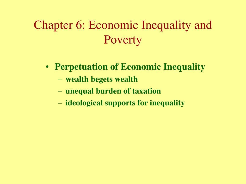 Perpetuation of Economic Inequality