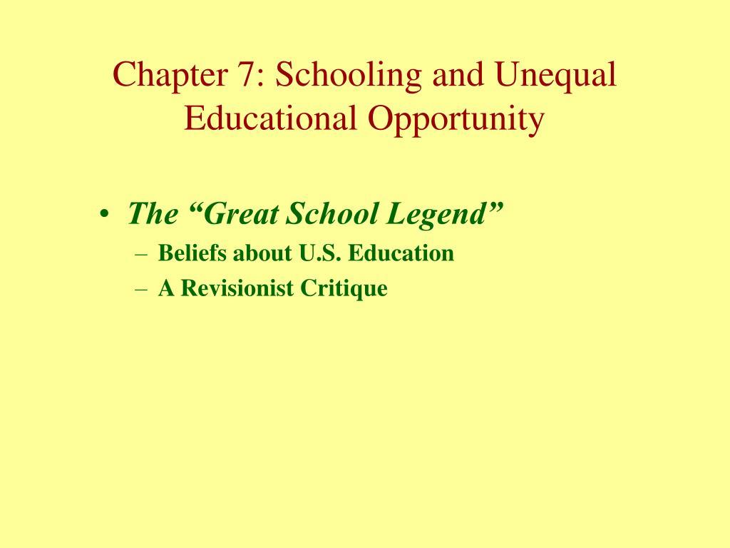 """The """"Great School Legend"""""""