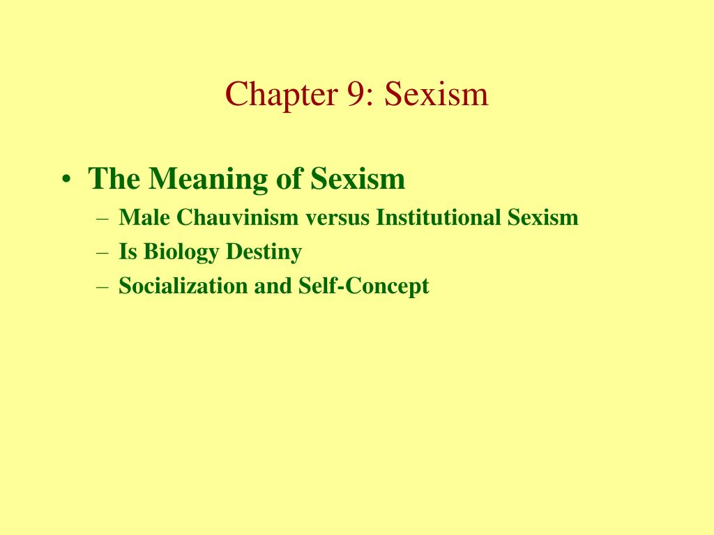 The Meaning of Sexism