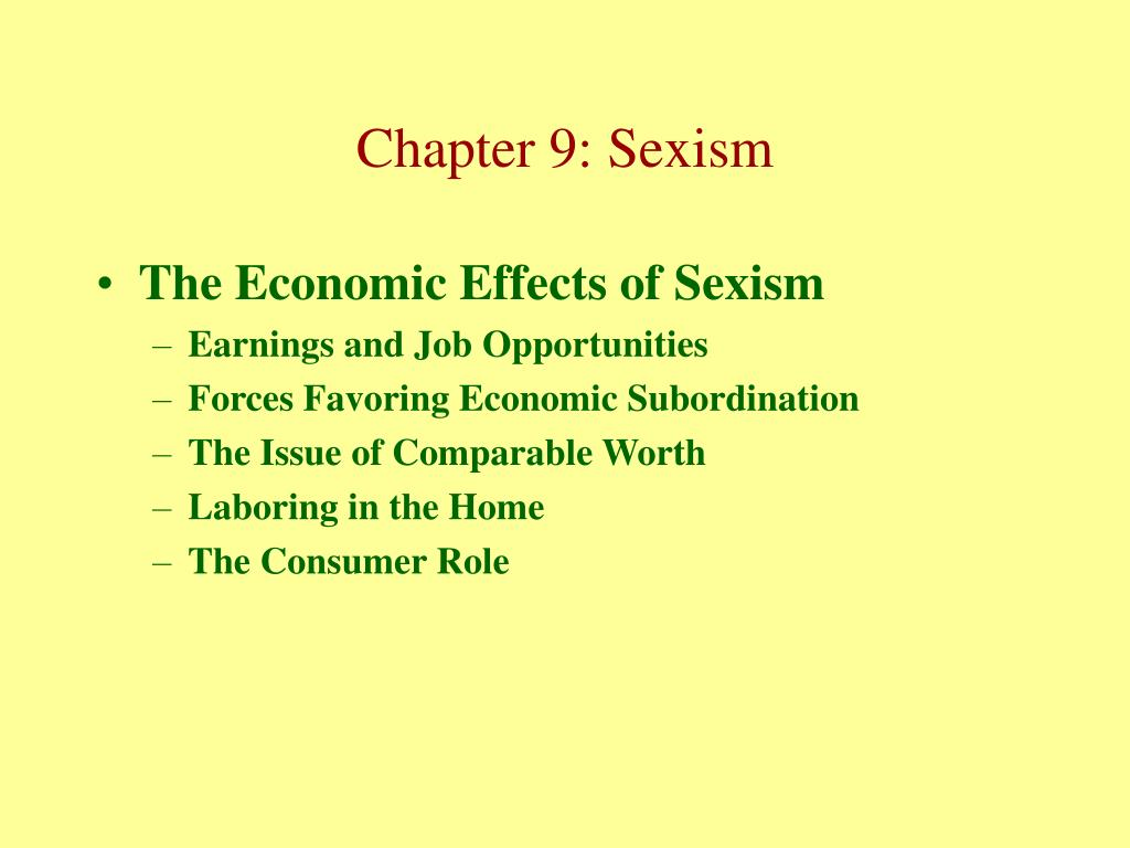 The Economic Effects of Sexism