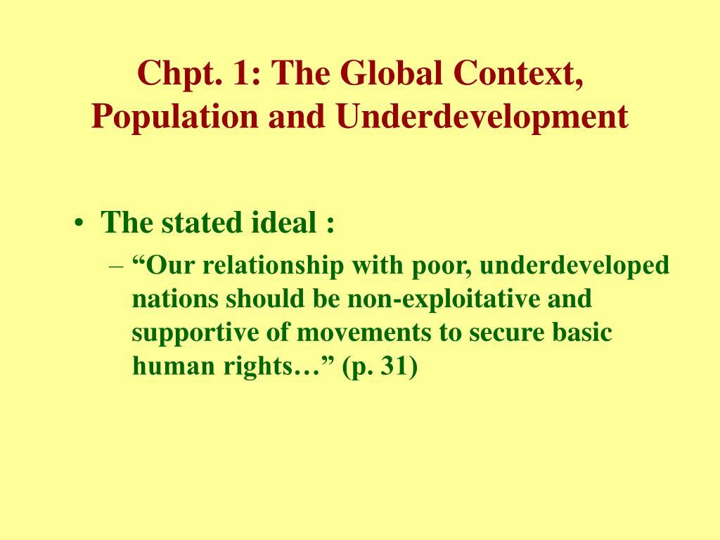 Chpt. 1: The Global Context,