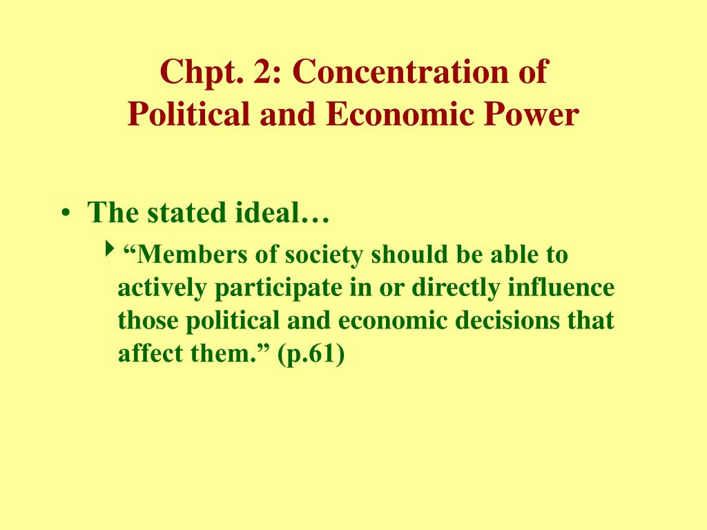 Chpt. 2: Concentration of