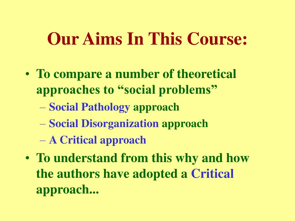 Our Aims In This Course: