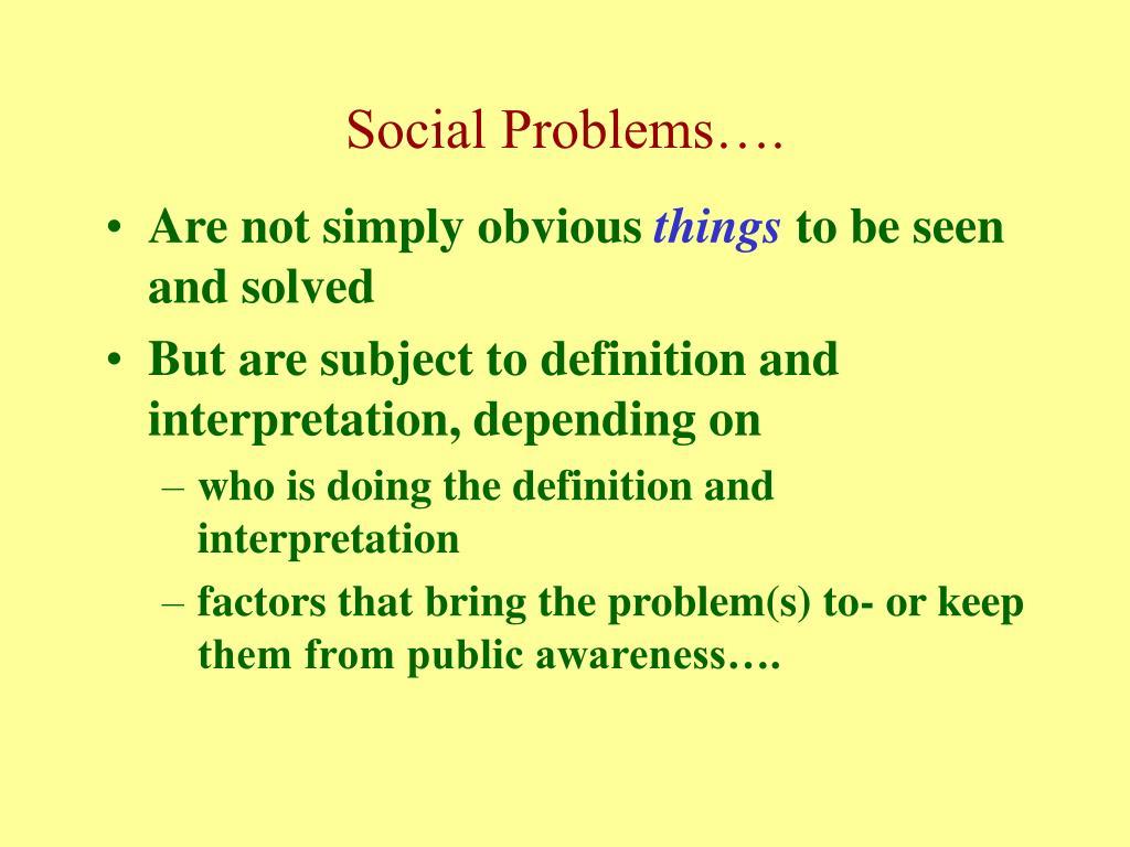 Social Problems….