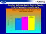 standard methods quality control results for biochemical oxygen demand16