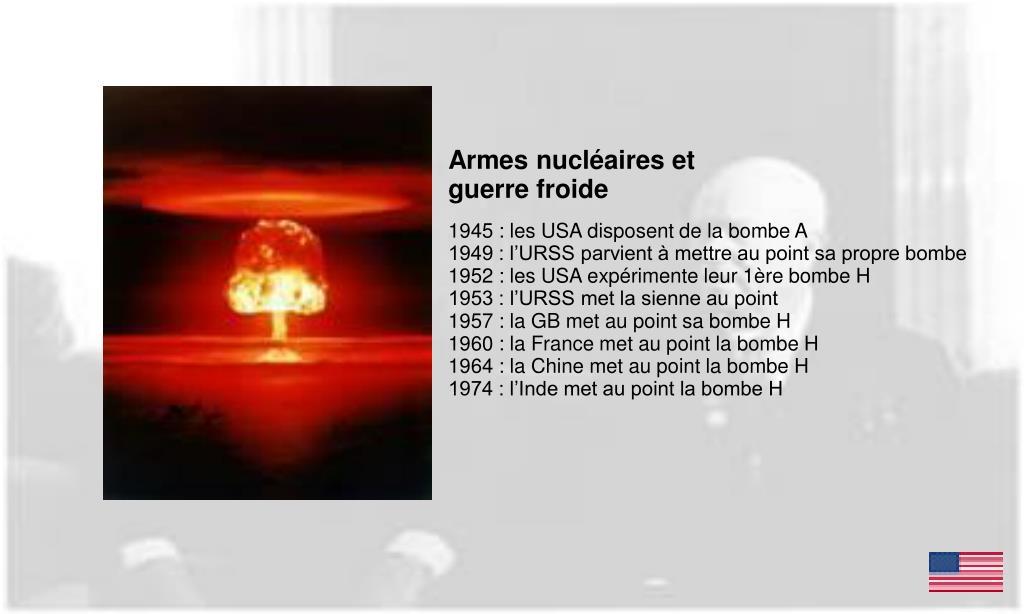 Armes nucléaires et guerre froide