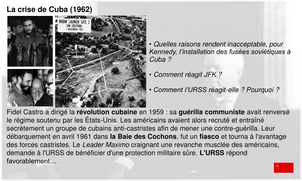 La crise de Cuba (1962)