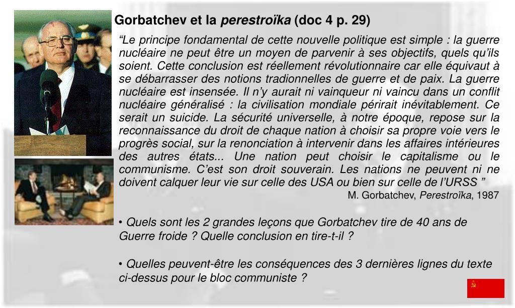 Gorbatchev et la