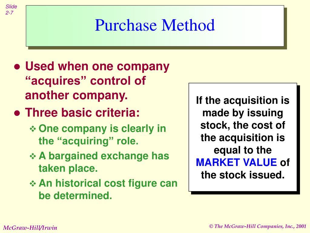 Purchase Method