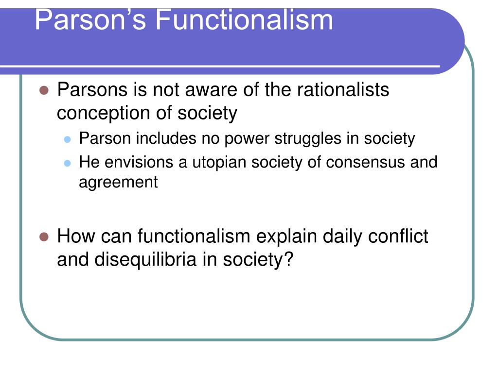 Parson's Functionalism
