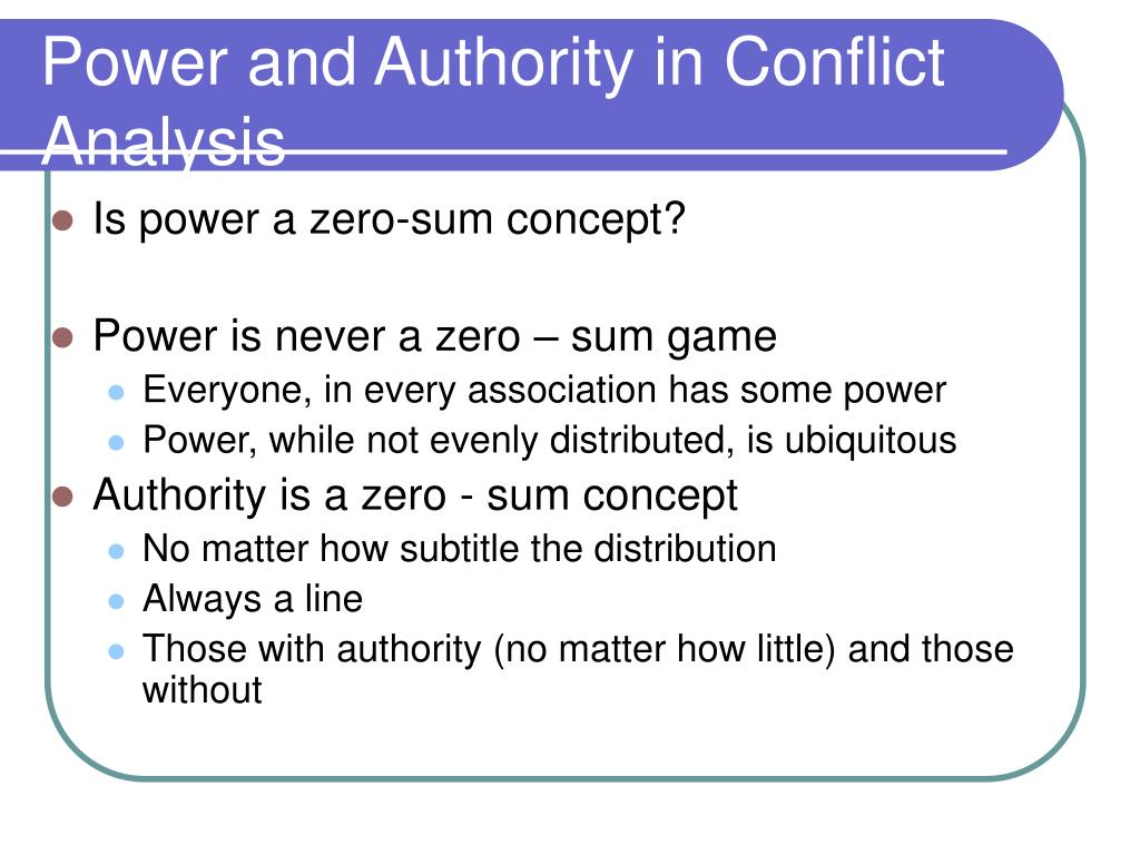 Power and Authority in Conflict Analysis
