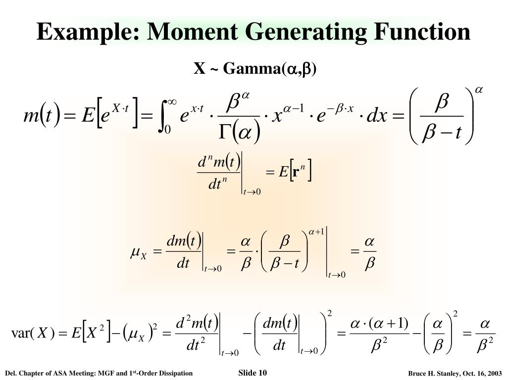 how to find moment generating function