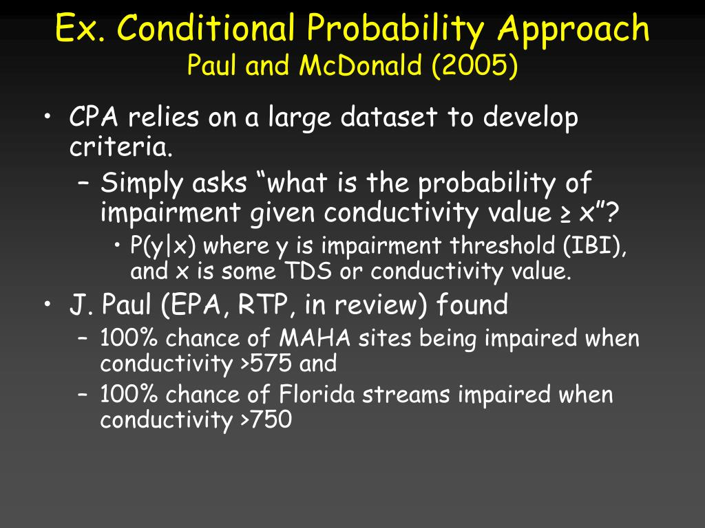 Ex. Conditional Probability Approach