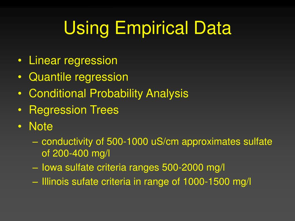 Using Empirical Data