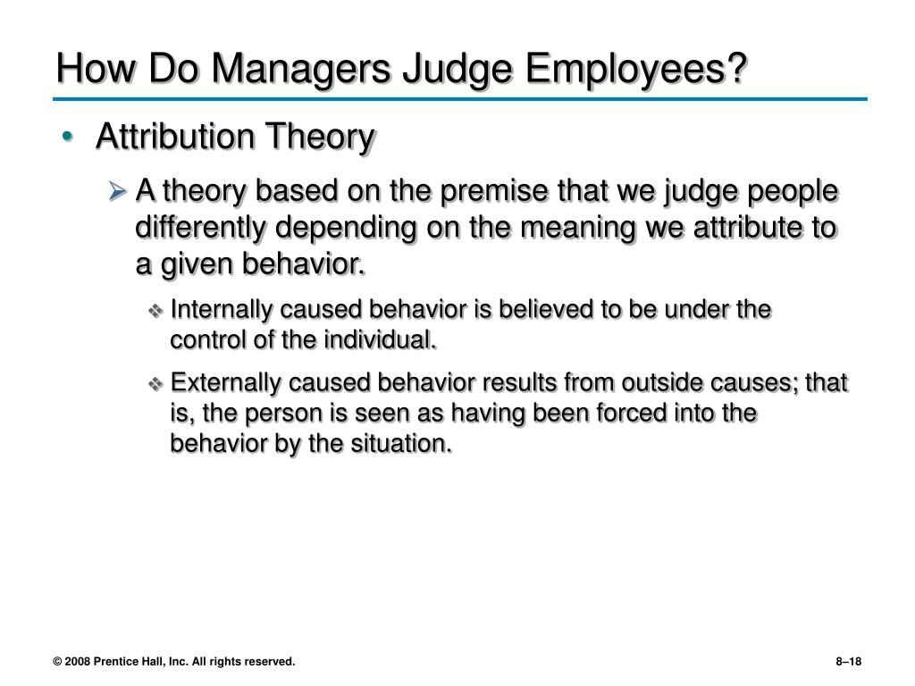 How Do Managers Judge Employees?
