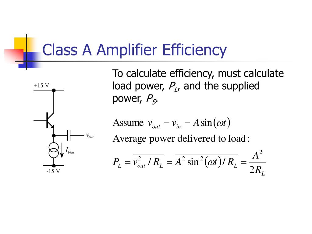 Class A Amplifier Efficiency