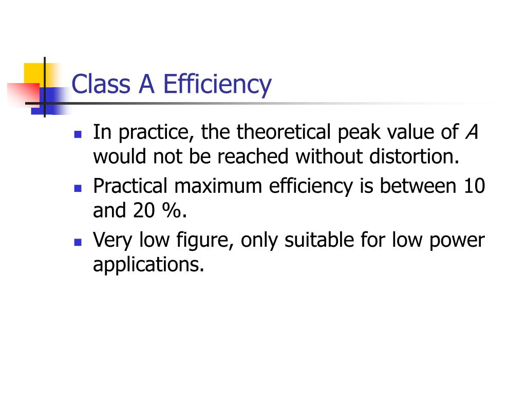 Class A Efficiency