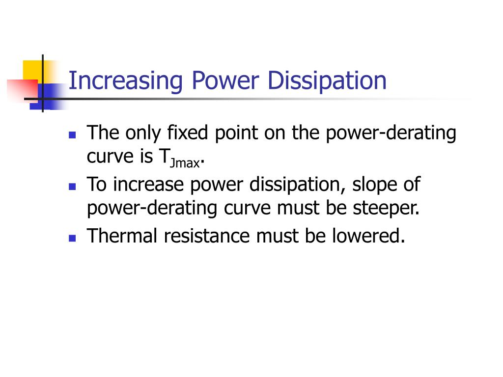 Increasing Power Dissipation