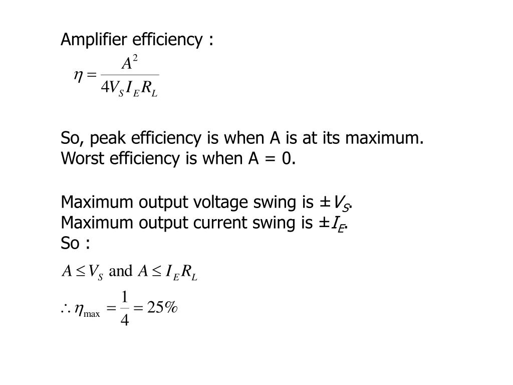 Maximum output voltage swing is ±
