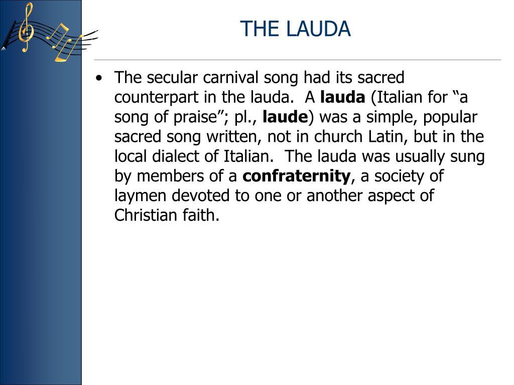 THE LAUDA