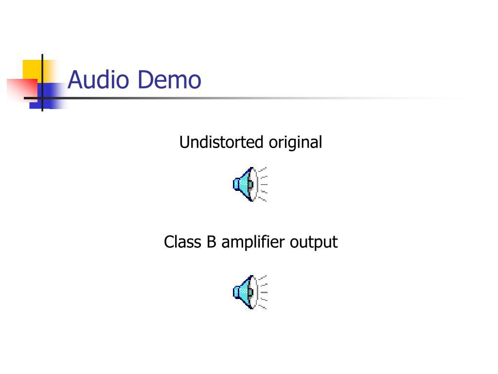 Audio Demo