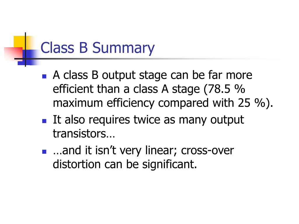 Class B Summary
