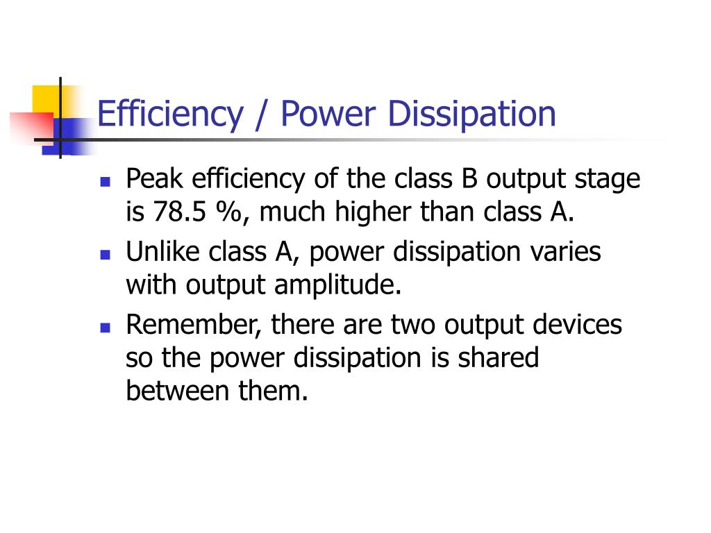 Efficiency / Power Dissipation