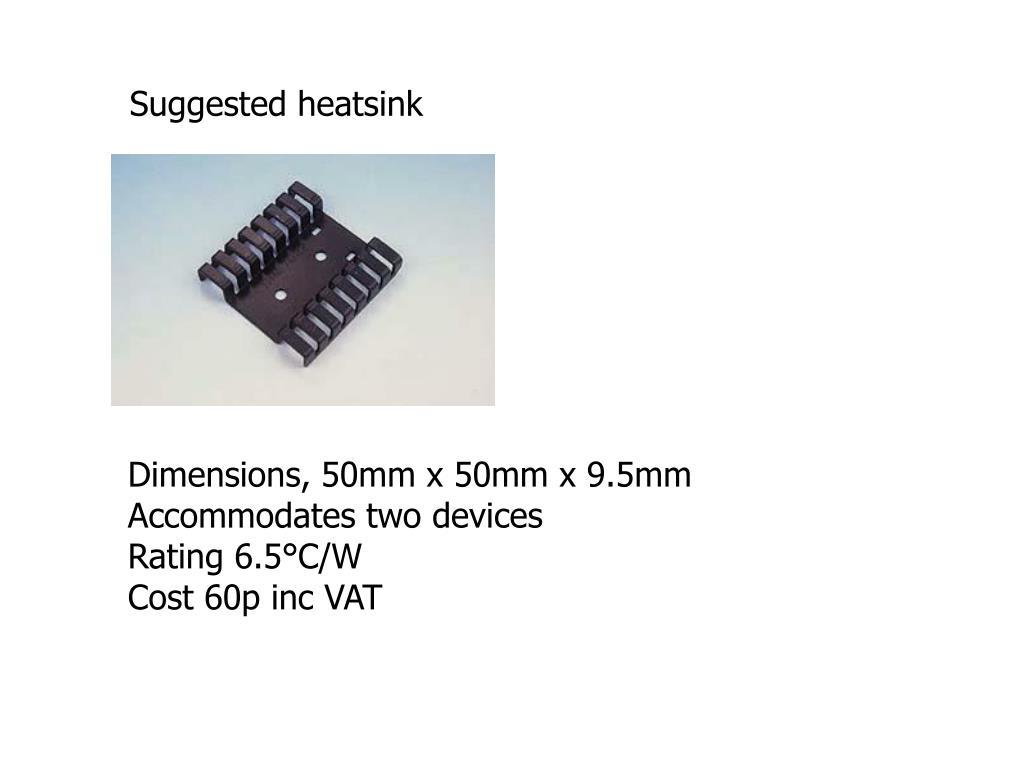 Suggested heatsink