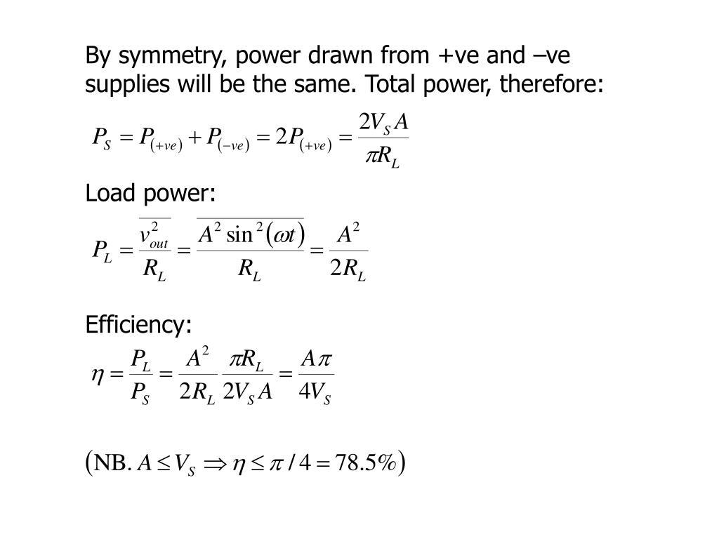 Load power: