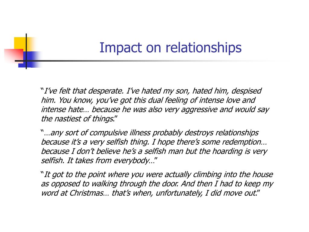 Impact on relationships