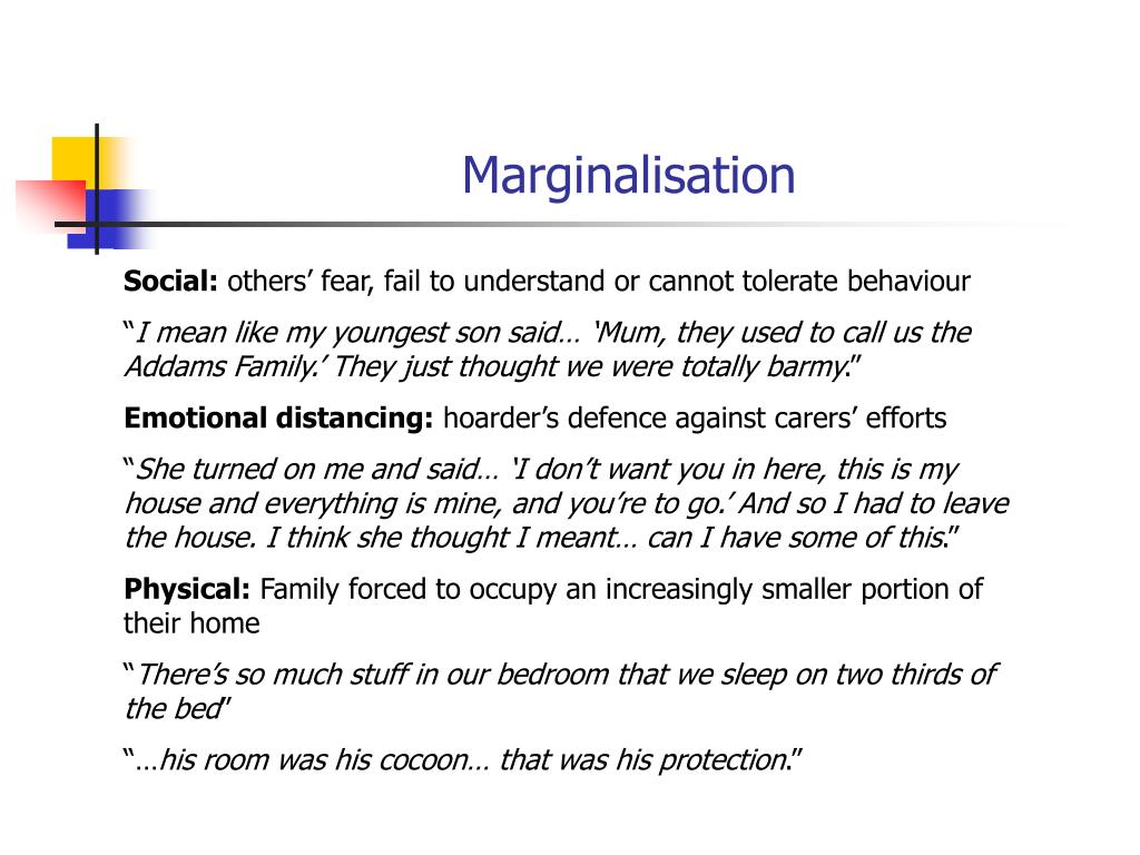 Marginalisation