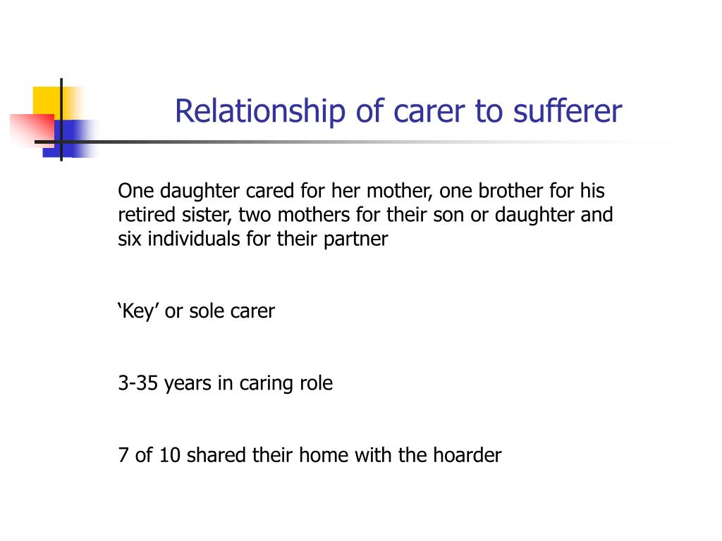 Relationship of carer to sufferer