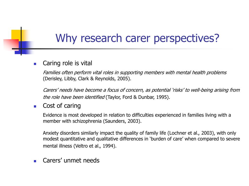 Why research carer perspectives?