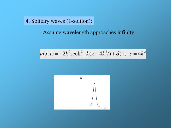 4. Solitary waves (