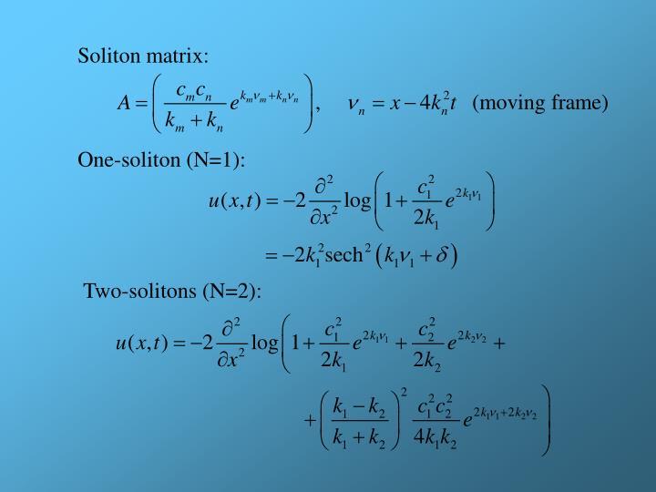 Soliton matrix: