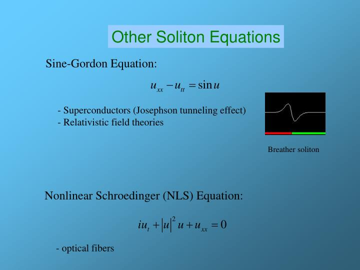 Other Soliton Equations