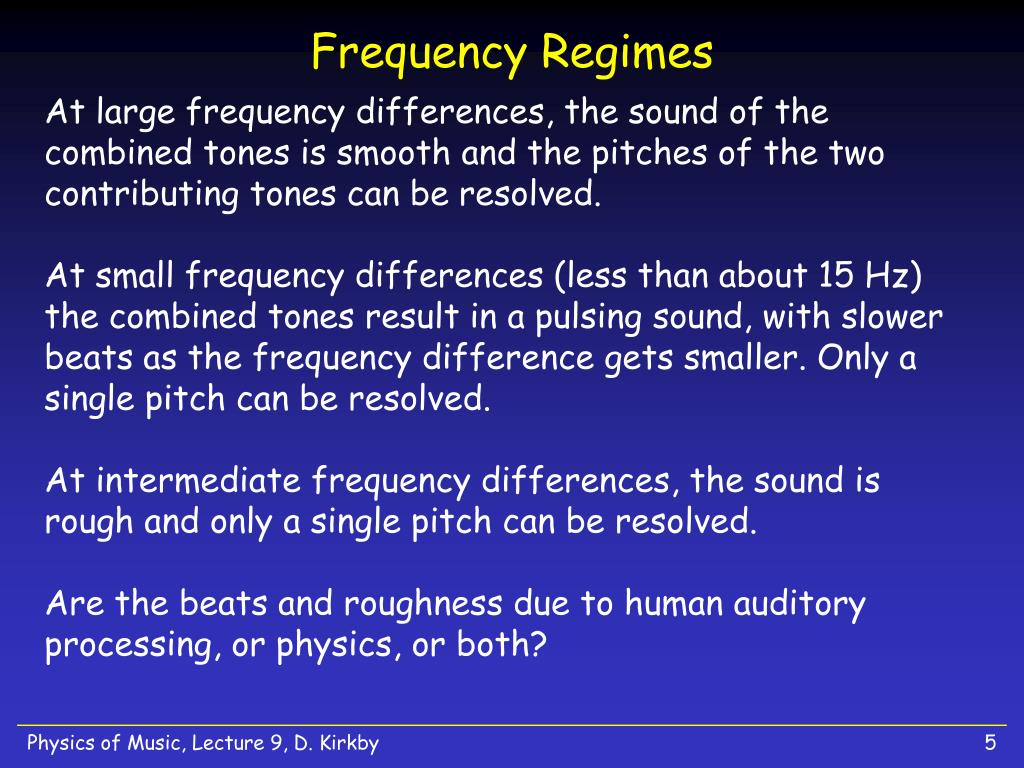 Frequency Regimes