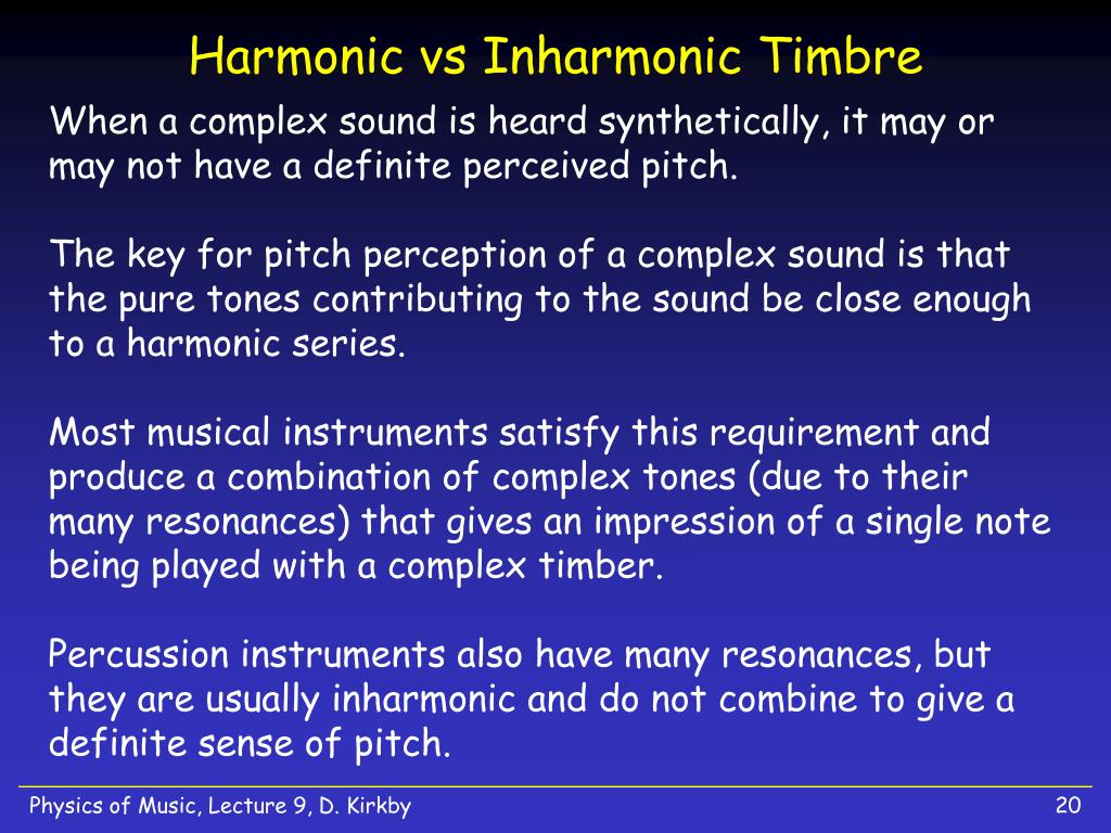 Harmonic vs Inharmonic Timbre