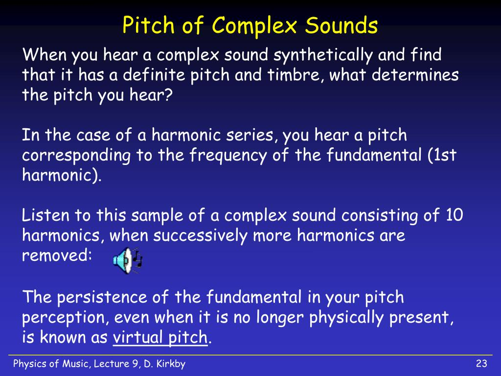Pitch of Complex Sounds
