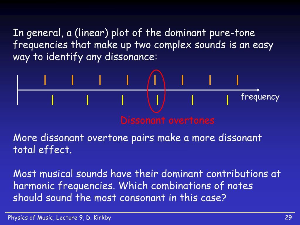 Dissonant overtones