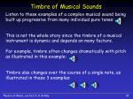 timbre of musical sounds