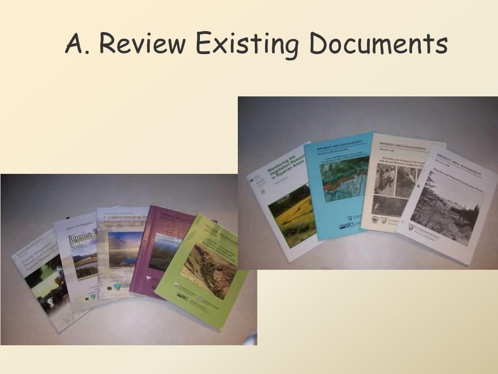 A. Review Existing Documents
