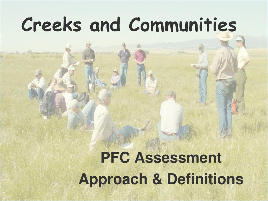 Creeks and Communities