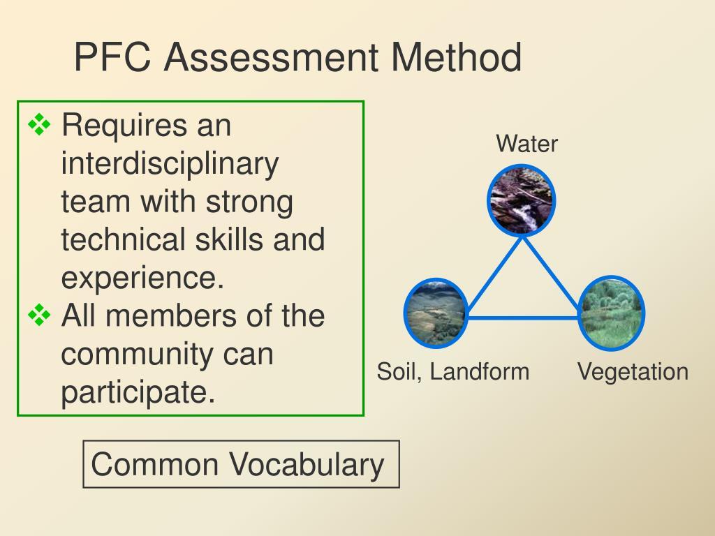 PFC Assessment Method