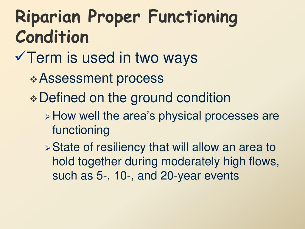 Riparian Proper Functioning Condition
