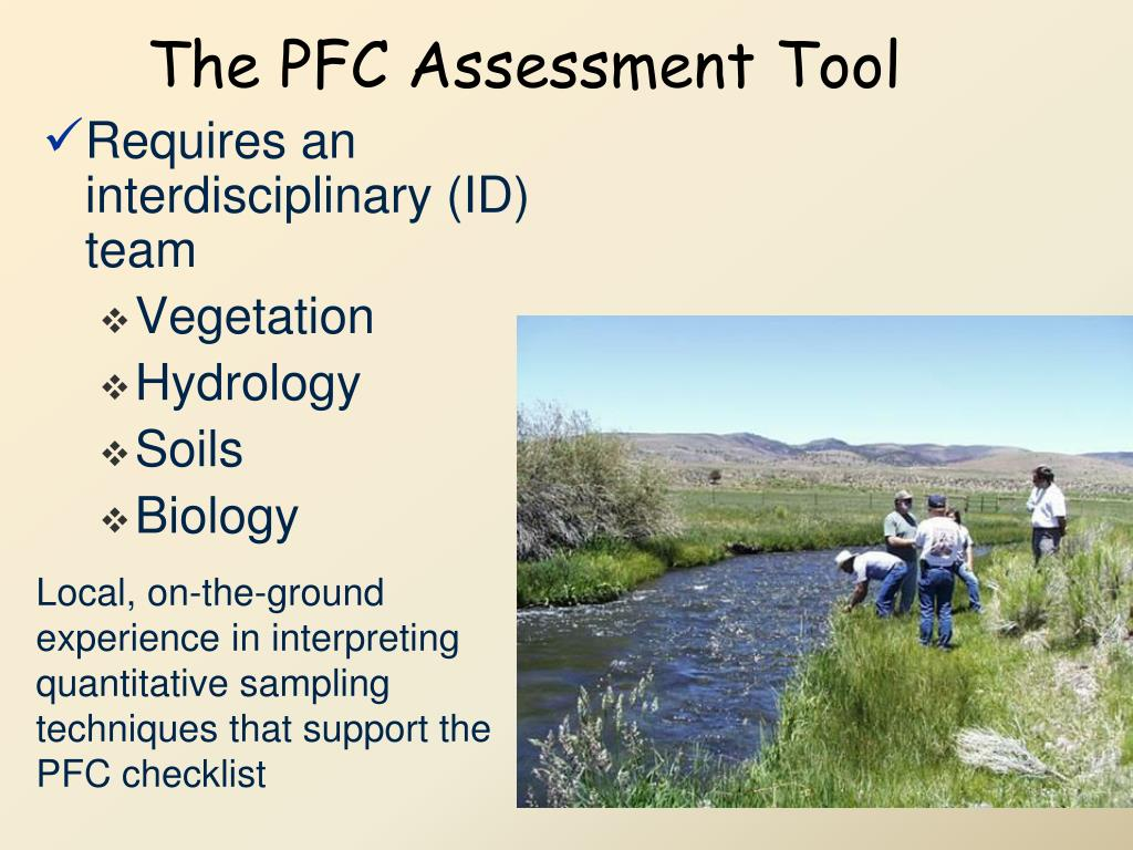 The PFC Assessment Tool