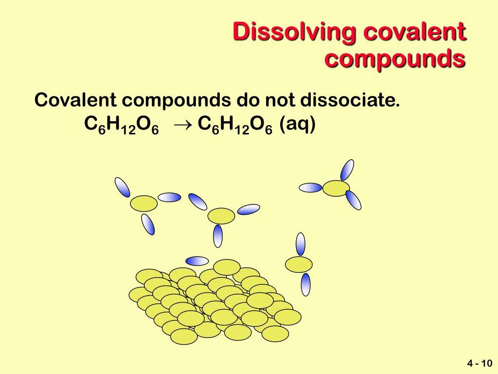 Dissolving covalent compounds