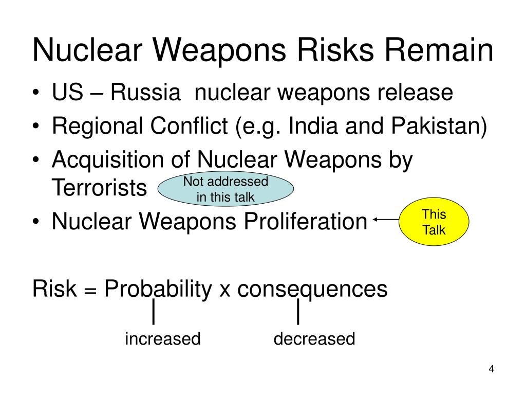 Nuclear Weapons Risks Remain